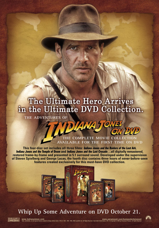 Indiana Jones Collection Consumer Ad