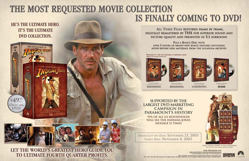 Indiana Jones Retailer Ad