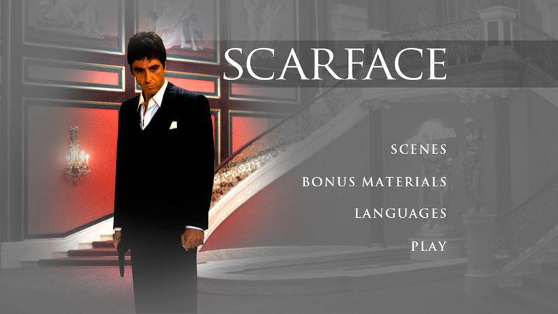 Scarface DVD Menus