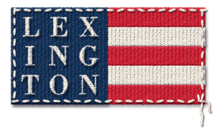 Lexington Embroidered Logo Flag