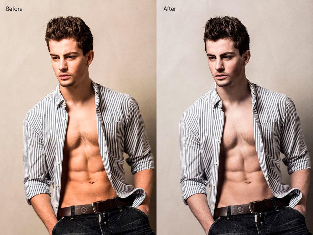 Photo Retouch Male Model