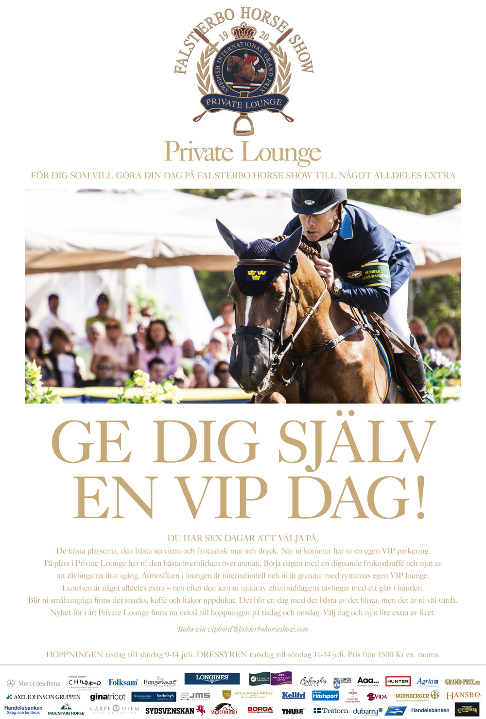 Falsterbo Horse Show Ridsport Ad