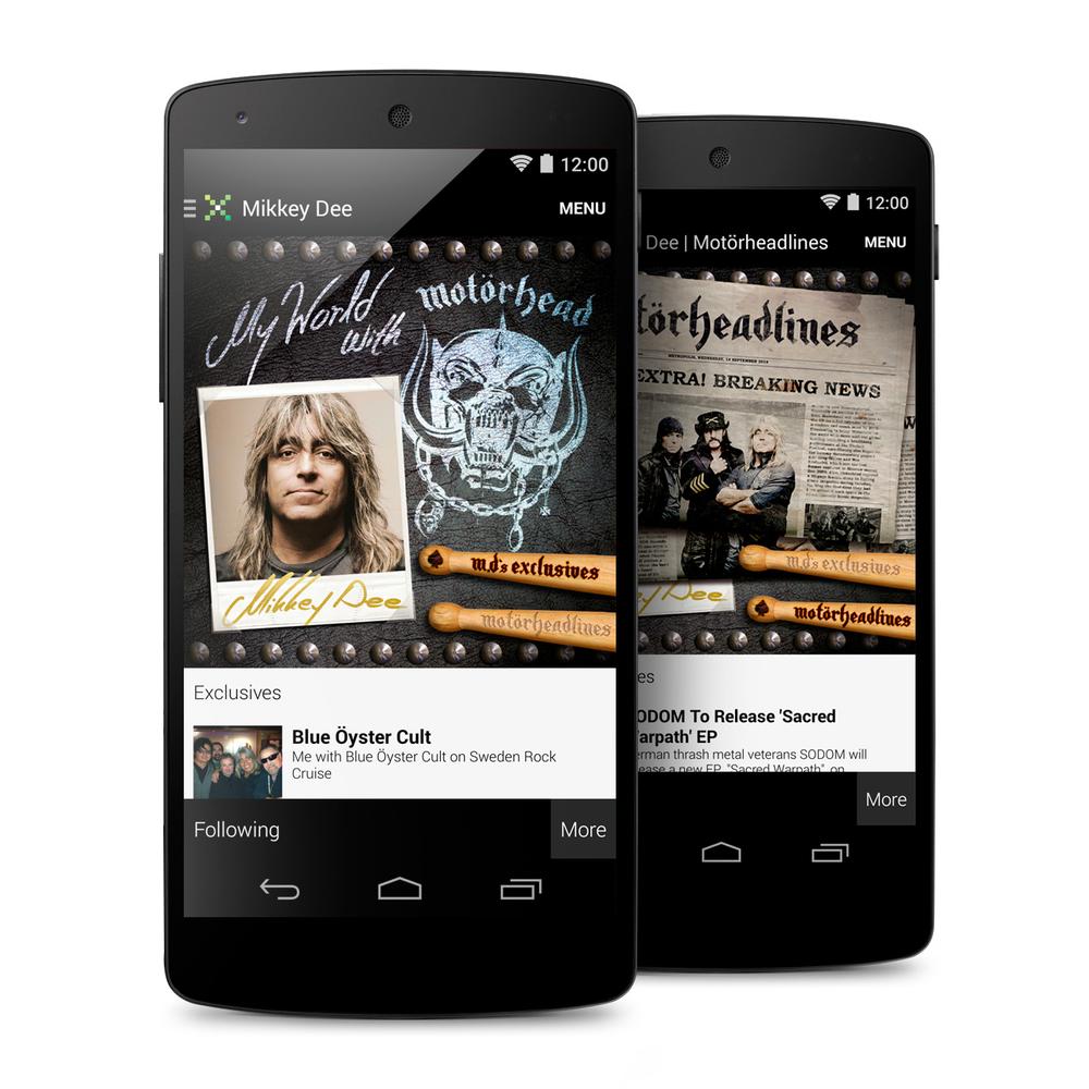 Motörhead's Mikkey Dee, UI Design (Mikz App)