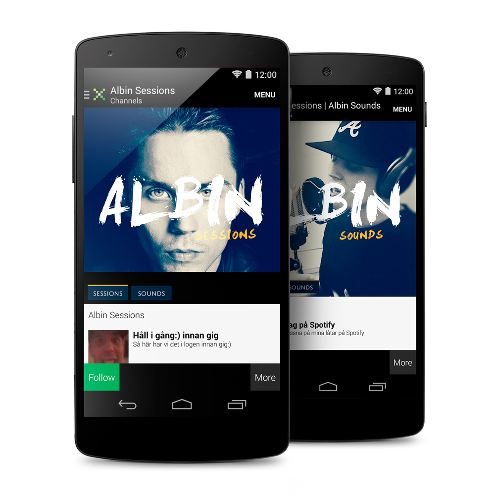 Albin Sessions UI Artwork (Mikz App)