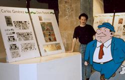 Director de l'exposició Barcelona en el còmic. Saló del Còmic. Any 1988