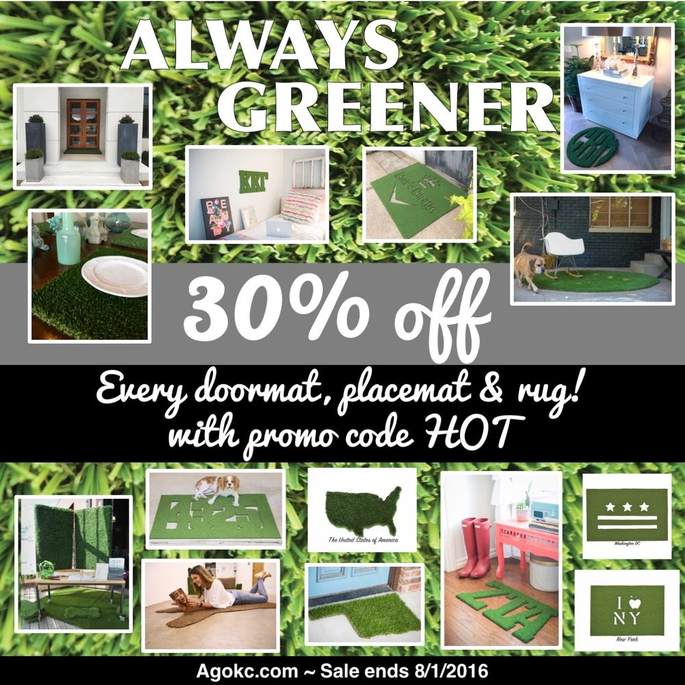 Always Greener HOT Summer Sale