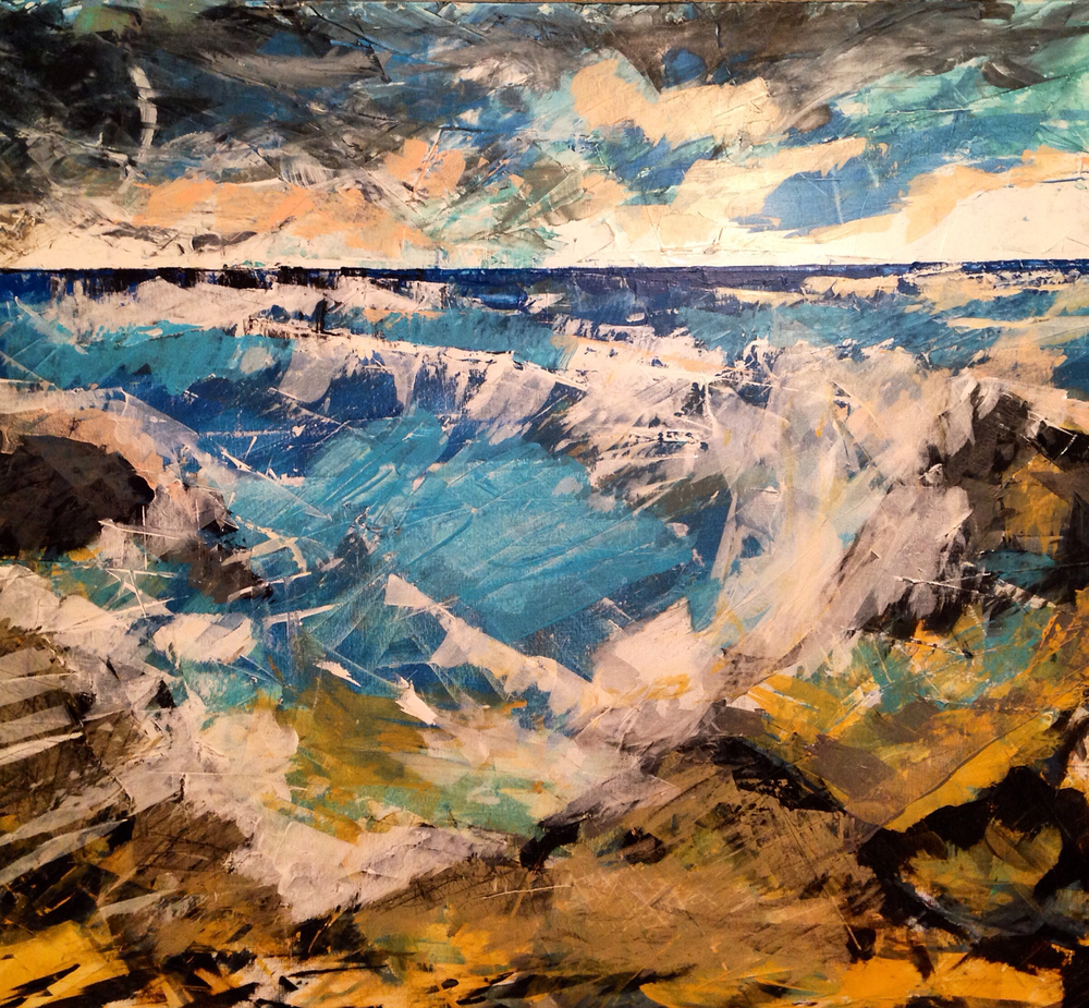 """Janice Beach"", 2014, 3' x 4'."