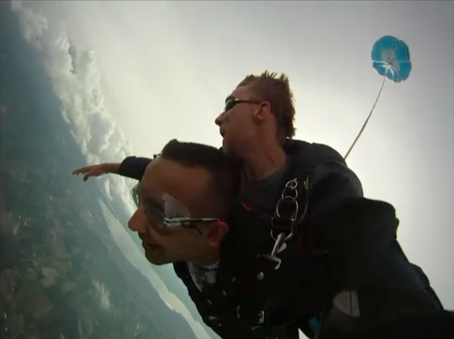 Free fall from 10,000 ft.