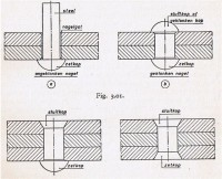 Verschillende klinknagelverbindingen.