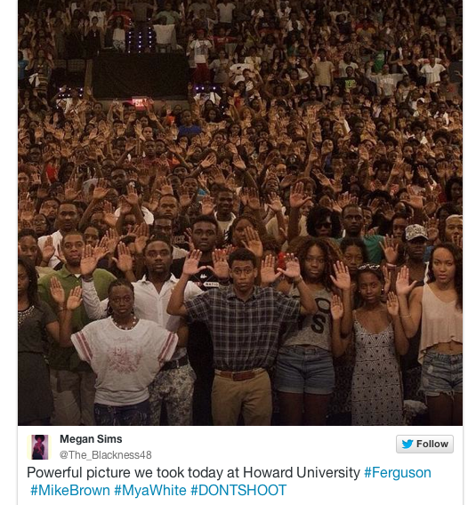 Howard University student Megan Sims posted this to Twitter yesterday. Image from Mother Jones.