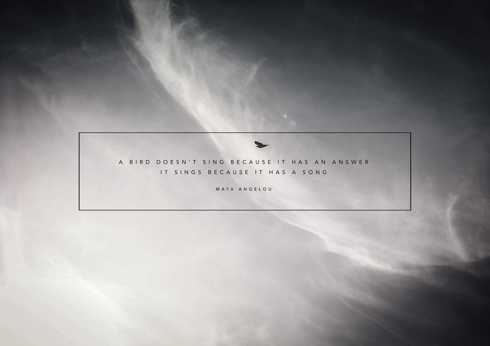 A Bird Sings by Maya Angelou | Design by Stephanie Mill | www.stephaniemill.com