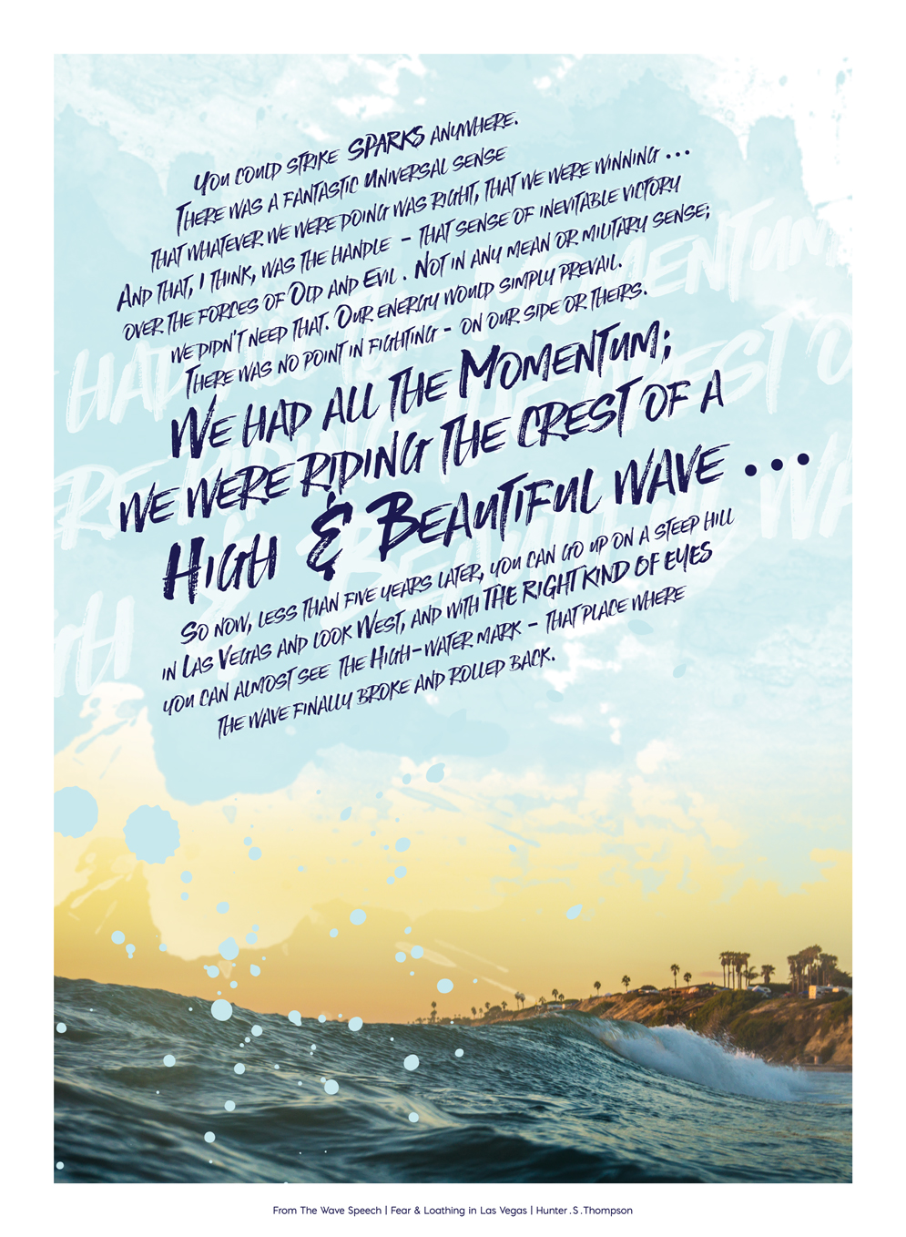 The Wave Speech | Design by Stephanie Mill | ww.stephaniemill.com