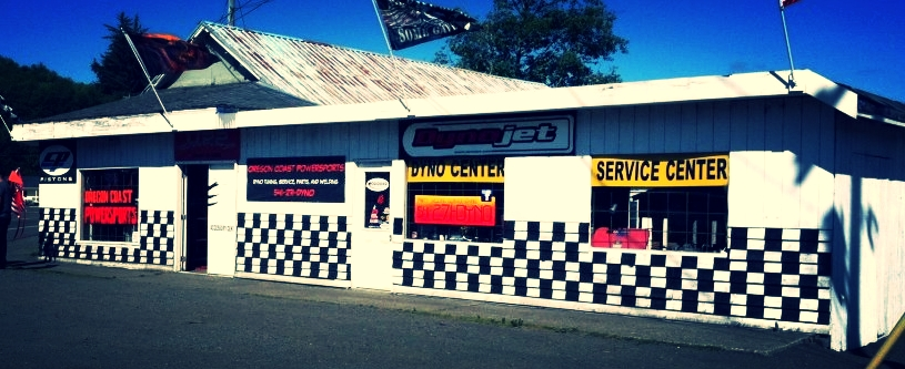 Our storefront, located directly off of Highway 101 on the east side of the road in Winchester Bay.