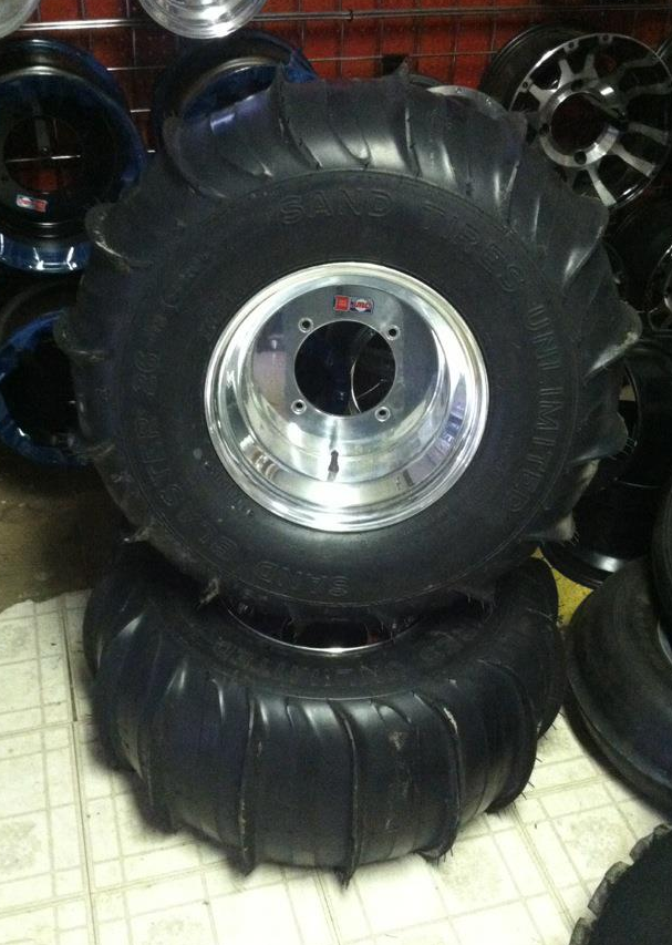 Sandblaster Tires on DWT 12x10 Wheels