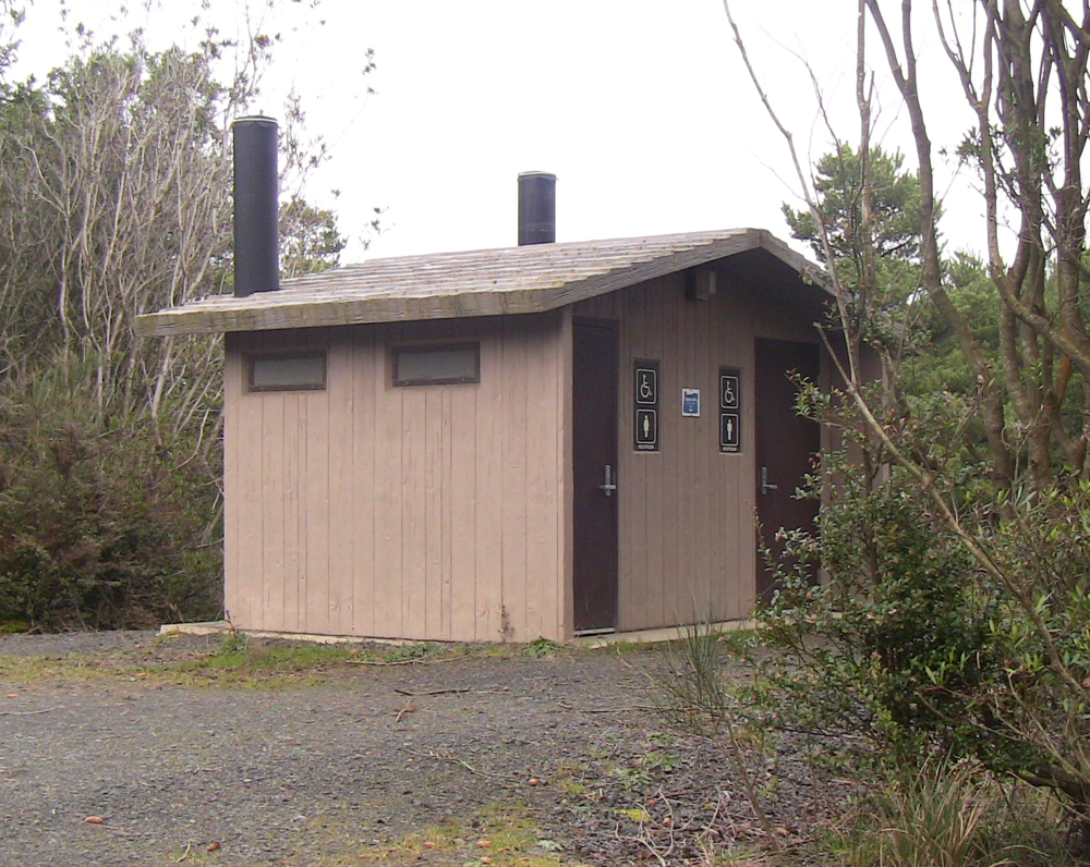 Half Moon Bay has out-house style restrooms available throughout the campground.