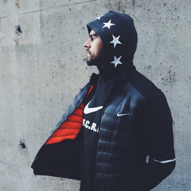 Nike Aeroloft Hybrid Running Jacket F.C. Real Bristol French Terry Hoodie