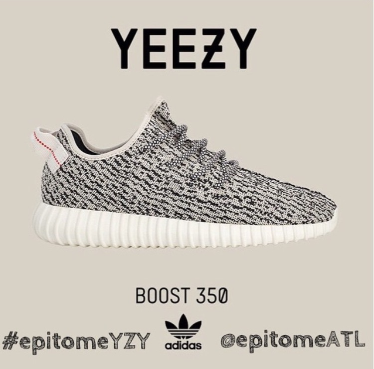 Epitome Adidas YZY Boost 350 Raffle: To enter in the raffle, you MUST make an in-store purchase, repost this image to Instagram with your size, email, first and last name and #epitomeYZY -You MUST live in the Atlanta Area -Follow @epitomeATL on Instagram -Repost this image with your size, first and last name, email, and hashtag #epitomeYZY -Winners will be contacted through email by 5PM on Saturday 6.27.15 A quick response is necessary otherwise you will forfeit the pair. -Must have a Valid ID that matches the IG information to pickup the prize. -Once Selected You must purchase your pair of Adidas Yeezy Boost 350 Saturday 6.27.15 between the hours of 6-8pm or you will forfeit the pair.  Thank you and good luck! Sizes 7-13