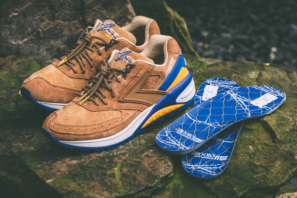 new product 4f5a7 b02a2 Mita Sneakers and Brooks Running have teamed up to bring back a 90 s classic,  Beast 1. Inspired by Beauty and the Beast, different tones of brown pigskin  ...