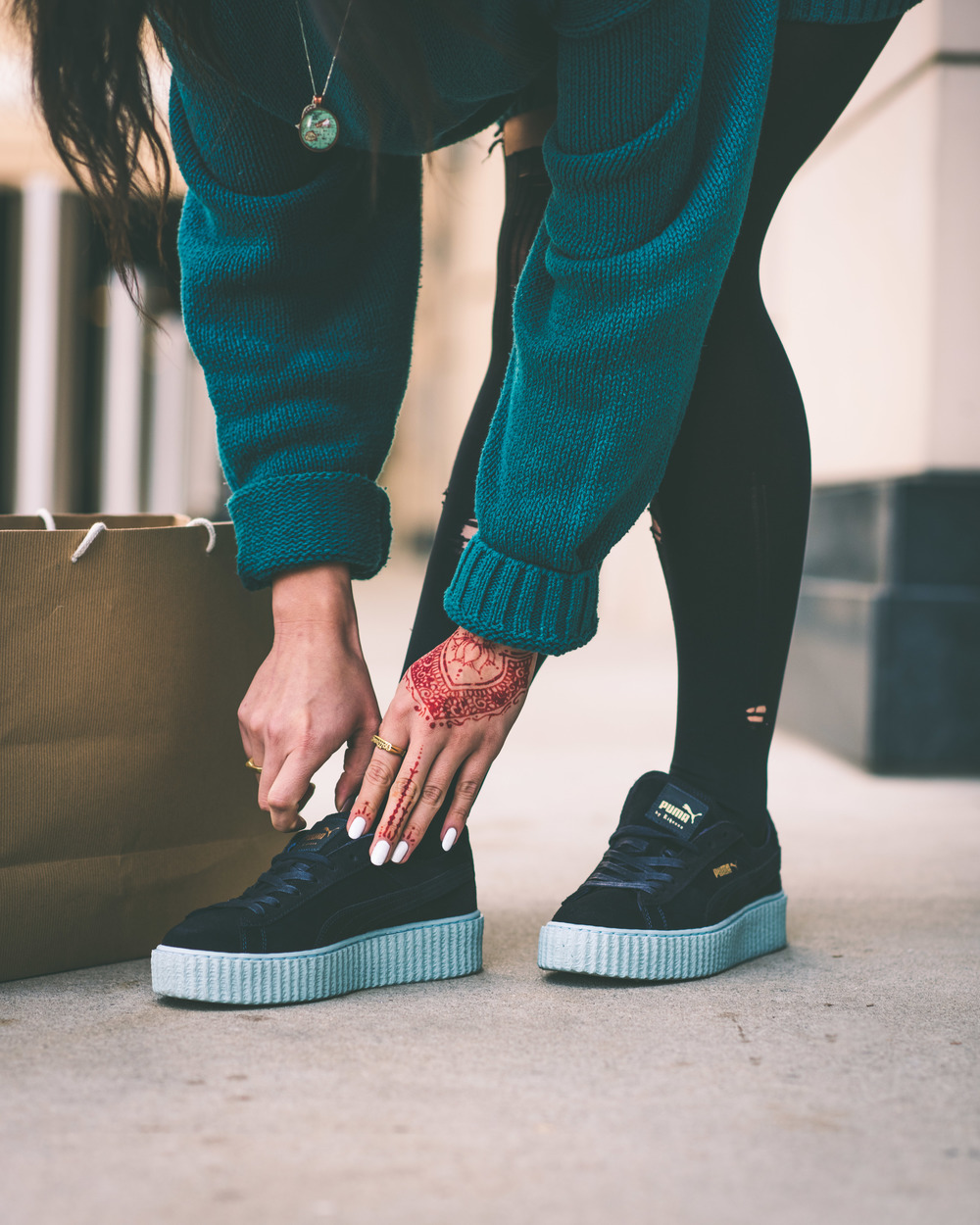 c2e541d4888 With or without being a part of  RihannaNavy you can still cop the new  color way of the CREEPERS. A peacoat blue suede material embodies the  entire ...