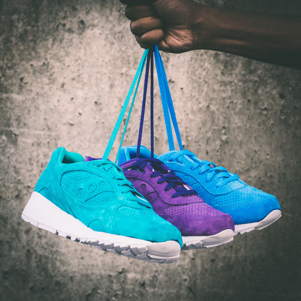 Saucony Shadow 6000 Easter Pack Emerald on Feet Sneaker
