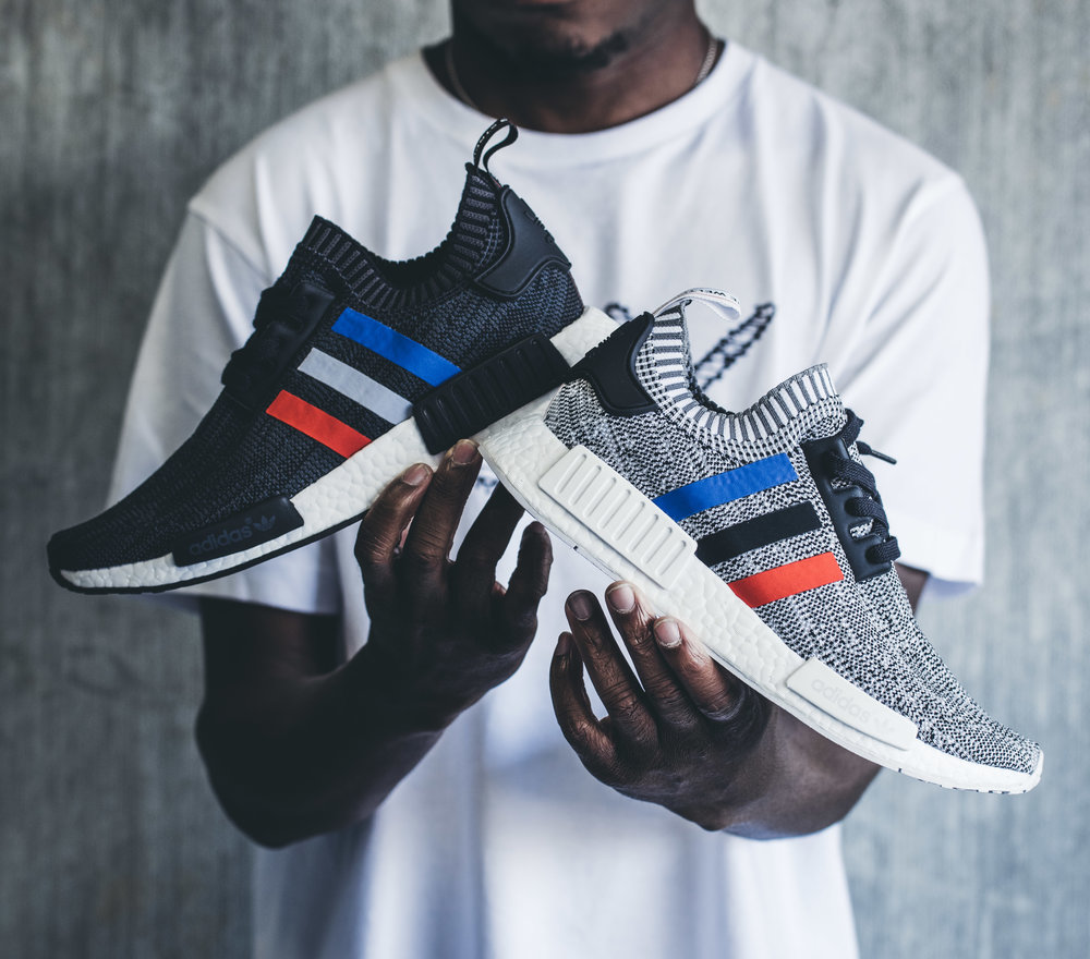 A Closer look at the Cheap Adidas NMD R1 Primeknit 'Tri Color' Pack