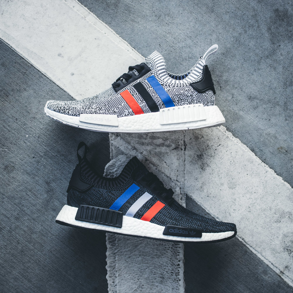 adidas NMD R1 PK Primeknit Tri Color Black US 10.5 UK 10