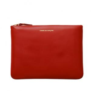 COMME DES GARCONS - CLASSIC LEATHER POUCH (RED)  $137.00