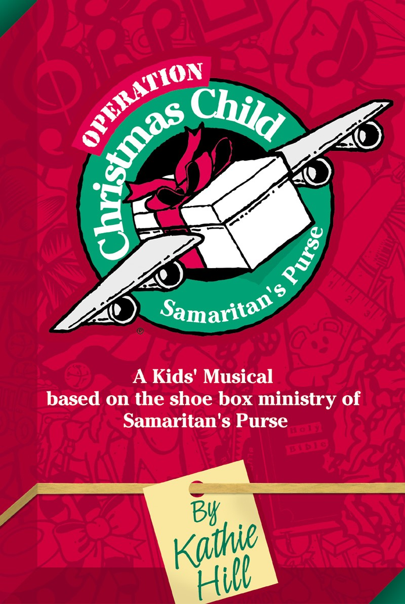 "Spend your Christmas at Fort Faithful with peace-keeping troops led by Sergeant Smarter with Private Eye, Private Elvis Presby, and Private Gomer Smyle as Unit 12-25 embarks on a mission called Operation Christmas Child. But just who is this ""Christmas Child"" and what's inside the many gifts they must deliver?  Written to promote the ""shoe box ministry"" of the Christian relief organization,  Samaritan's Purse , Operation Christmas Child is an inter-active musical experience to involve your boys and girls in this worldwide child outreach. Veteran children's writer, Kathie Hill, has created a humorous, yet touching scenario to emphasize the gift of Jesus' birth and the motive for sharing our blessings with others. Incorporated into the story line and included in the Director's Aide and Video is a message from Samaritan's Purse president, Franklin Graham, along with footage of children across the globe receiving their Christmas shoe boxes. These images, combined with songs like ""Christmas Started With a Present,"" ""First John 3:16"" and ""Simple Things"" will highlight the needs of others while the characters in Operation Christmas Child will touch your congregation's funny bone and challenge everyone to participate in this vital ministry."