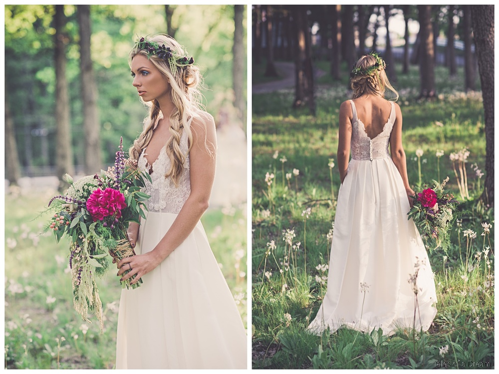 d62c51109e3 The illusion neckline makes this dress delicate and romantic. The back of  the bodice is fastened with covered buttons. The Mel gown also has pockets  and can ...
