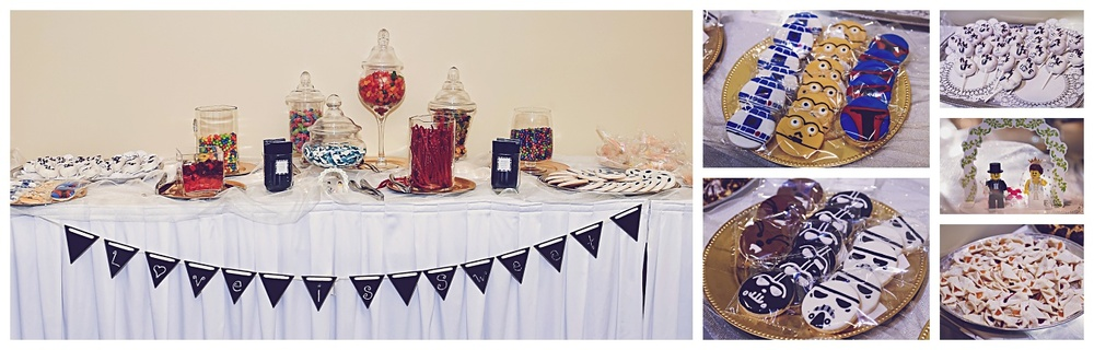 We love a wedding with a sweets table! Everyone was welcome to make themselves a baggy to go!