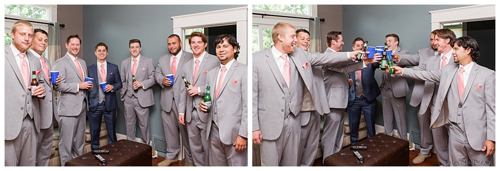 The guys had a blast hanging out before the ceremony...non stop laughs!