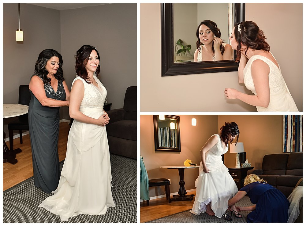 """I was lucky enough that my friends and bridesmaids are very talented so my hairstylist was my bridesmaid Heather Kats and my makeup artist was my bridesmaid Nikki Lambert. They are both incredibly talented and have worked with countless brides so I knew I was in great hands!"""