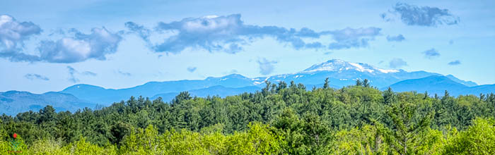 Snowy Mount Washington from Sunny Villa
