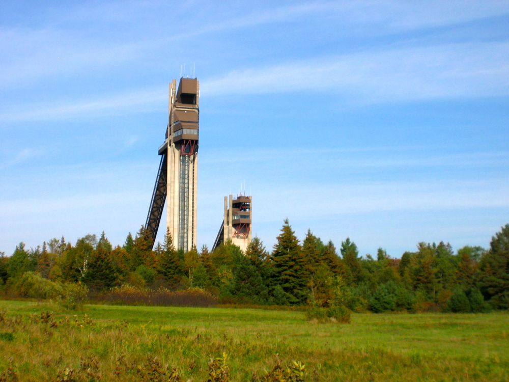 Backside of Olympic Ski Jumps