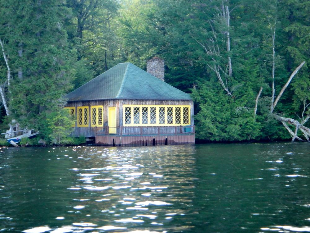 Classic Adirondack style boathouse