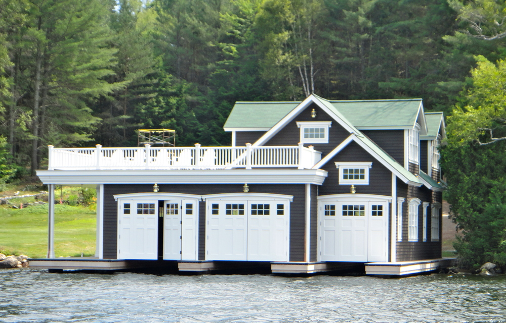 Typical boathouse on Lake Placid