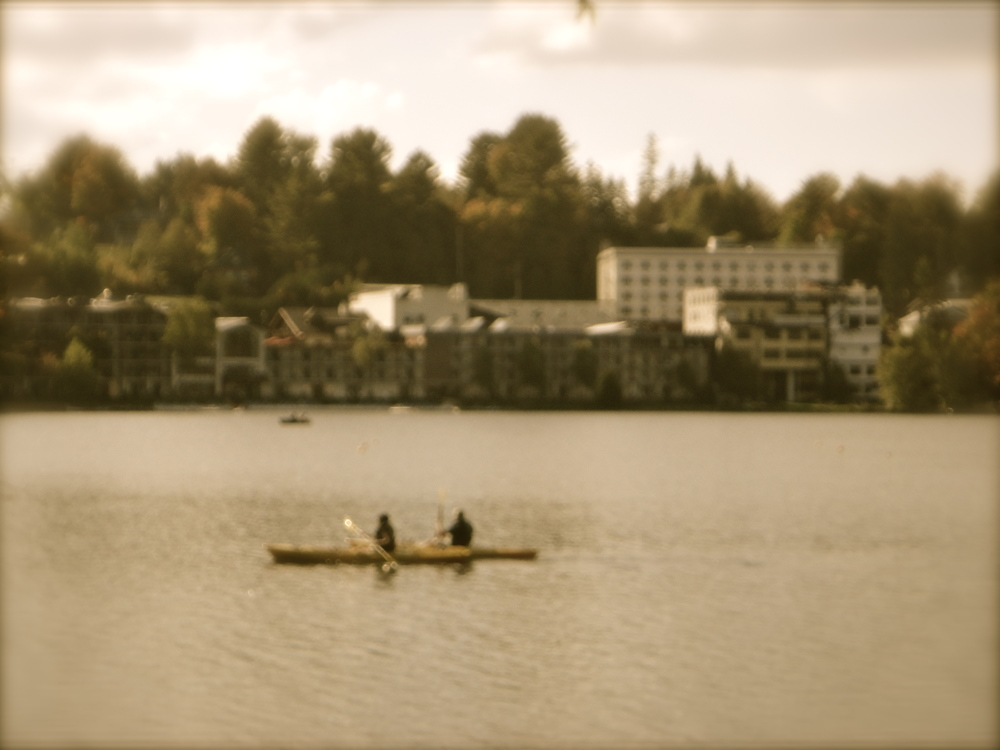 Canoeists on Mirror Lake