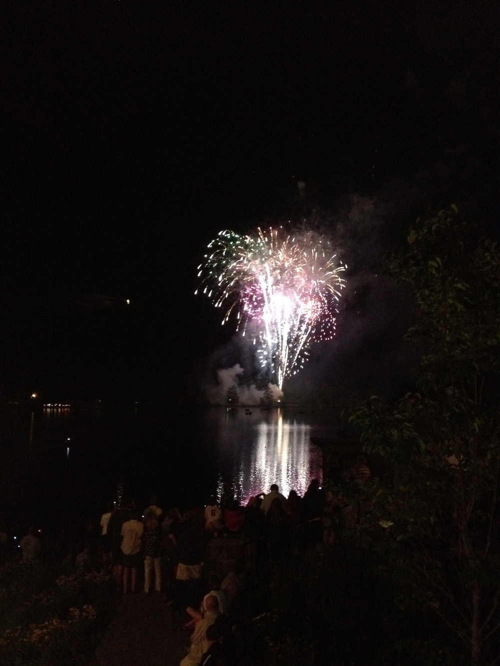 Fireworks over Mirror Lake