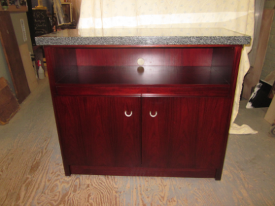 rosewood media cabinet