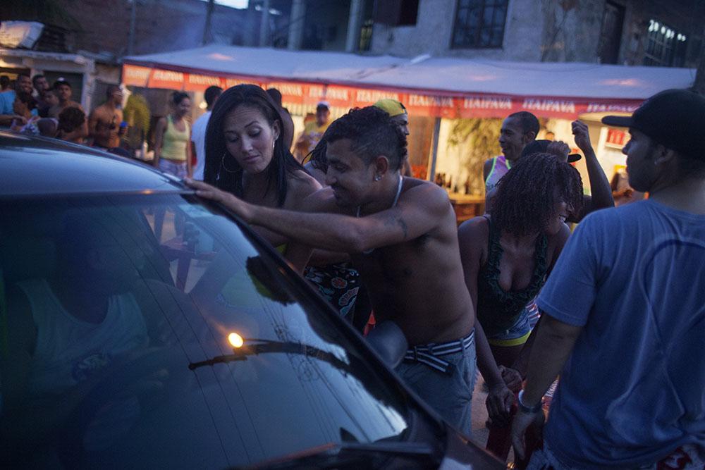 Favela party. Vila Autodromo, Rio de Janeiro.