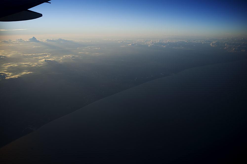 Solnedgang over Sør-Amerika.