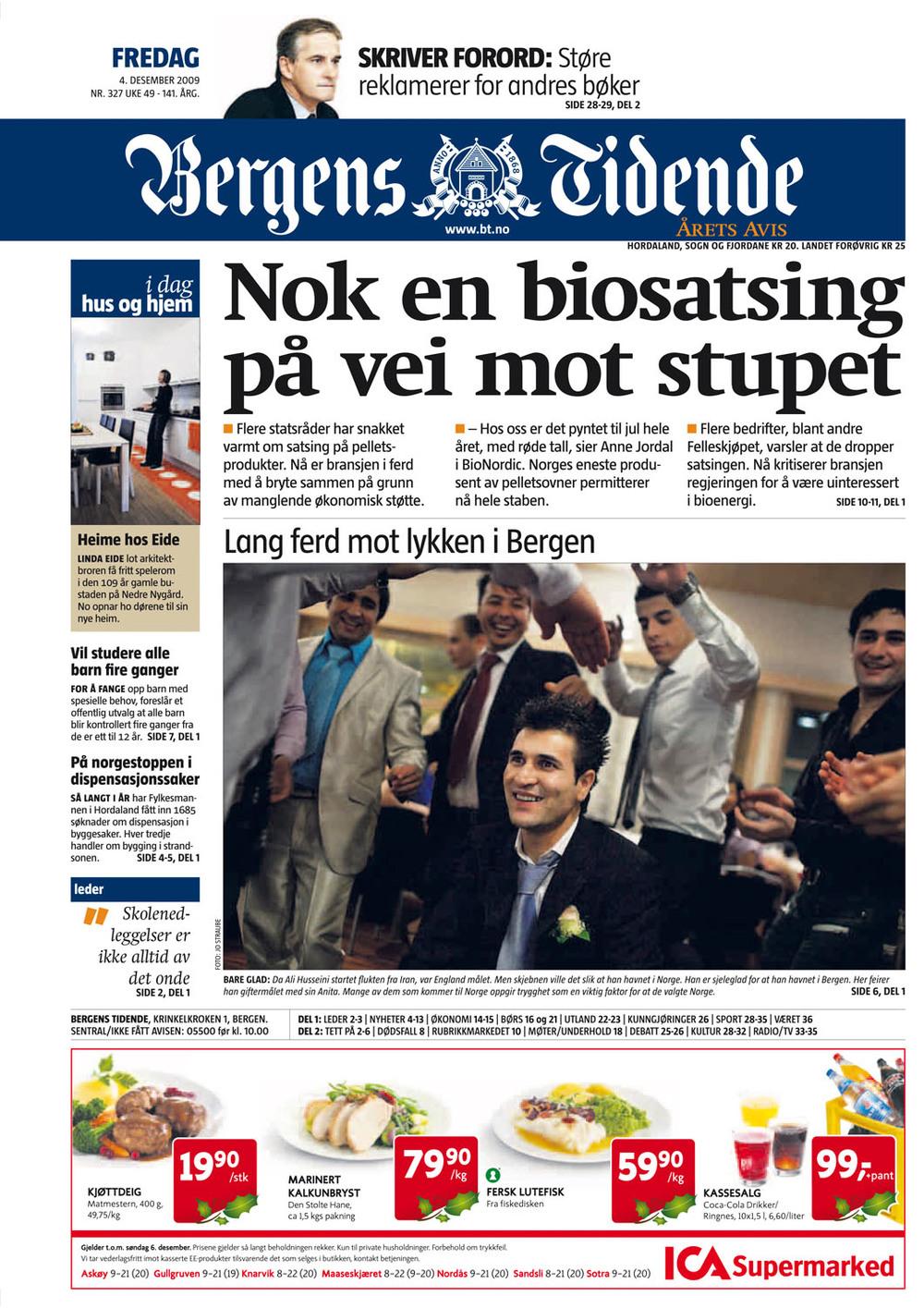 Bergens Tidende, 4.12.2009