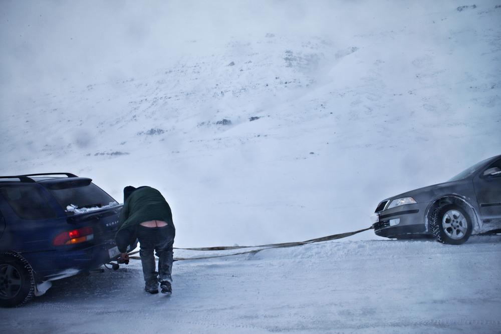 Snow storm. Iceland, 2010