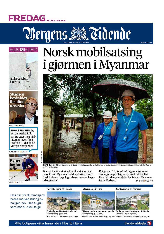 Bergens Tidende, 19. september 2014