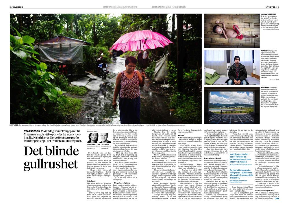 Bergens Tidende, 29. november 2014