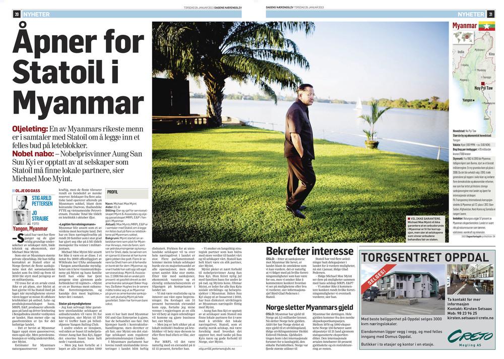 Dagens Næringsliv, 29. januar 2013