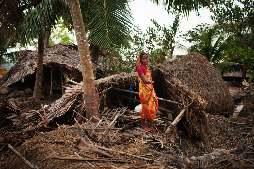 Victim after hurricane ila. Bangladesh, 2009.