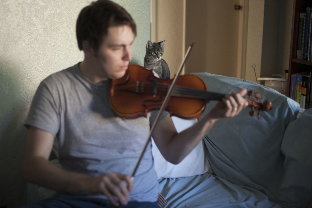 And their cat, Gator. Oh yeah, and who knew Andrew could play the fiddle?