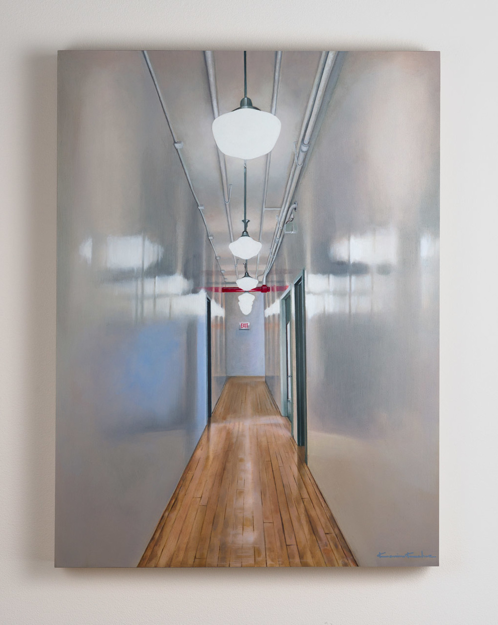 SOLD  Title: 7th Floor East  18 x 24, Oil on Board