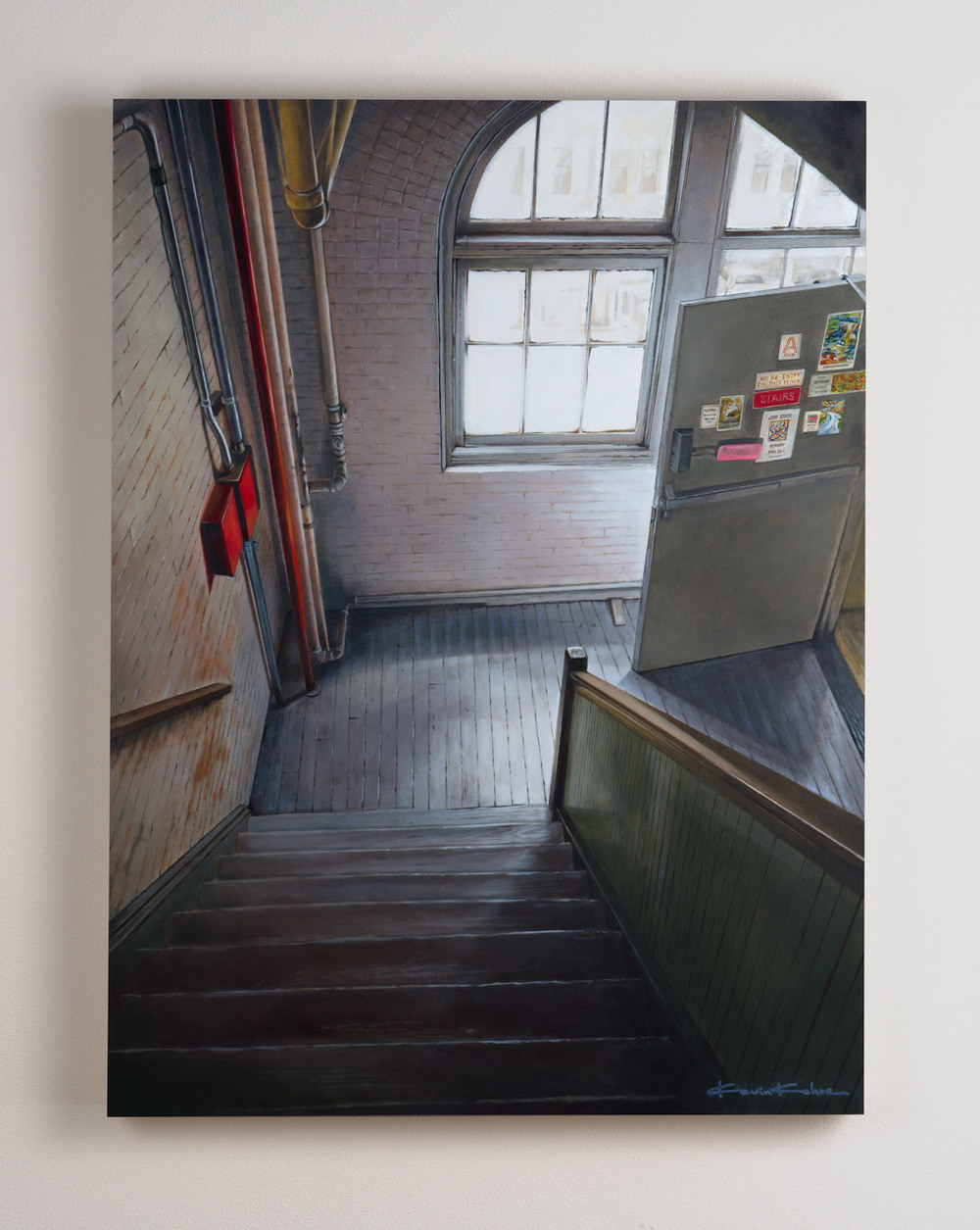 SOLD  Title: Window Light on West 27th.  18 x 24, Oil on Board